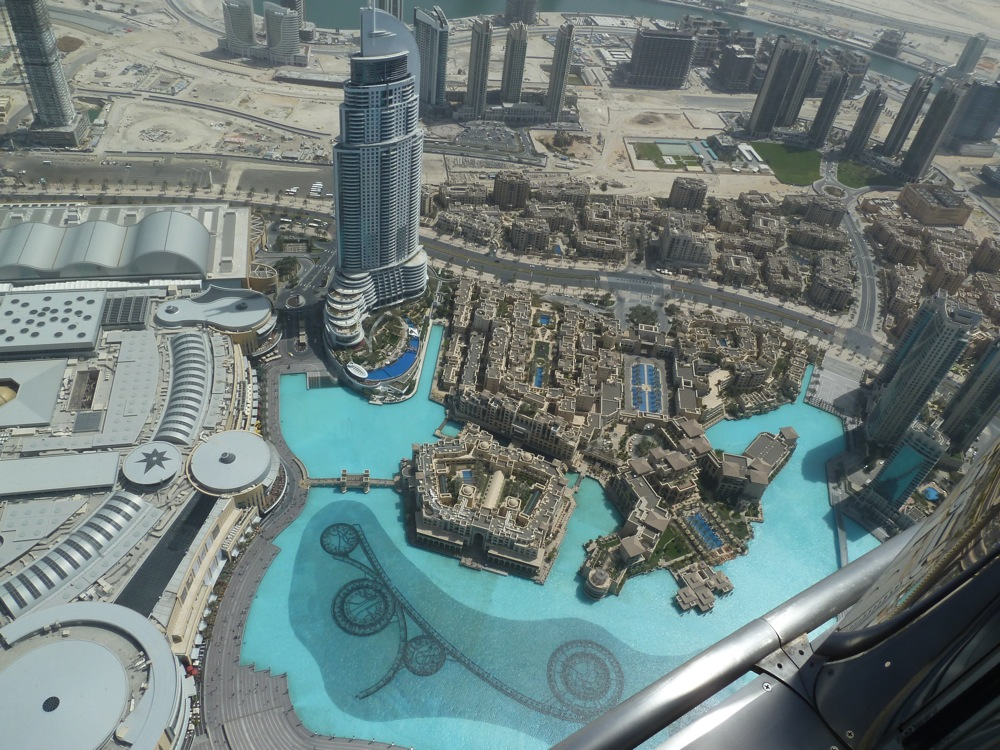 Image of Downtown Dubai from the Burj Khalifa tower