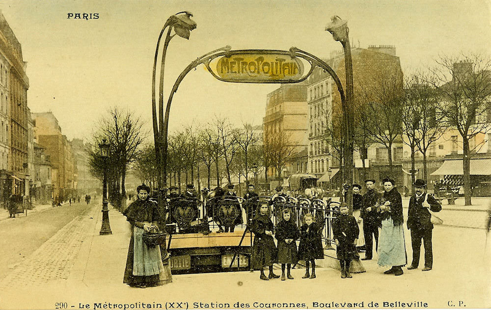 Image of early Paris Metro - Couronnes
