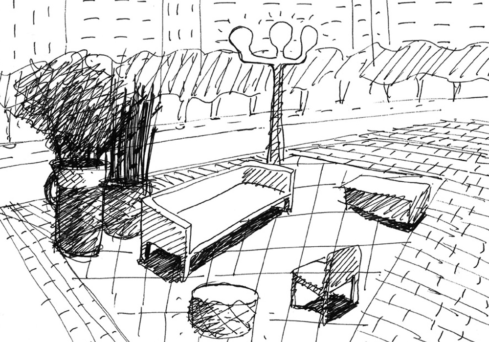 Sketch Of Street Furniture   Photograph By Marc Aurel
