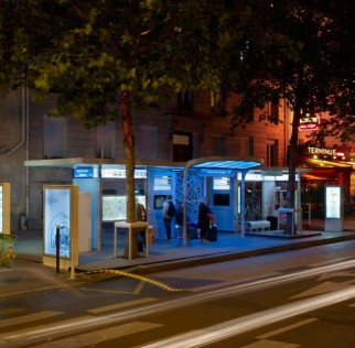 Photo of the Osmose bus shelter - Photograph by Didier Boy de la Tour