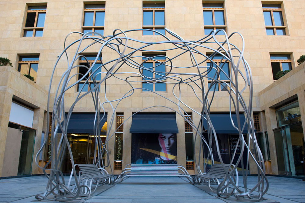Image of Spagetti Bench in Beirut Souks