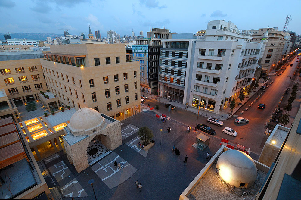 Image of Beirut Souks from above