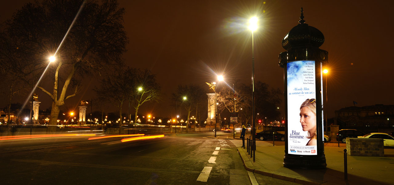 Image of street lighting in paris