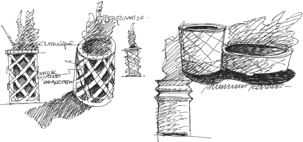 Sketch for street furniture project in Tripoli