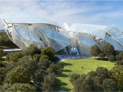 Image of new glass building for the Louis Vuitton Foundation
