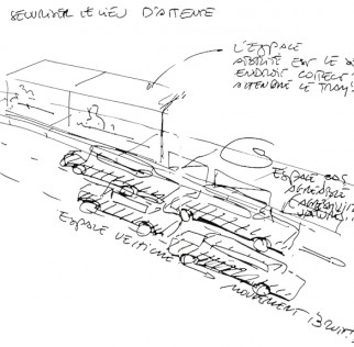Sketch from Bouché's book about domesticating public spaces