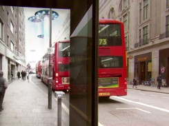 Image of Pepsi bus stop in London