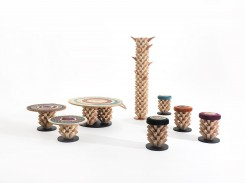 Palm Collection - stools and table