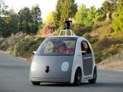 Image of the driverless Google car