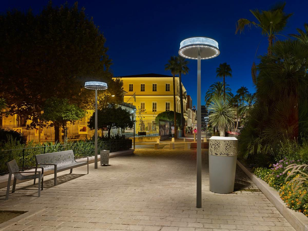 Public lighting in Hyeres, France
