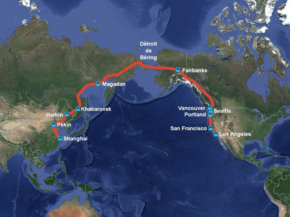 Highspeed Trains Between China And The USA The Urban Design - Bullet train locations us map