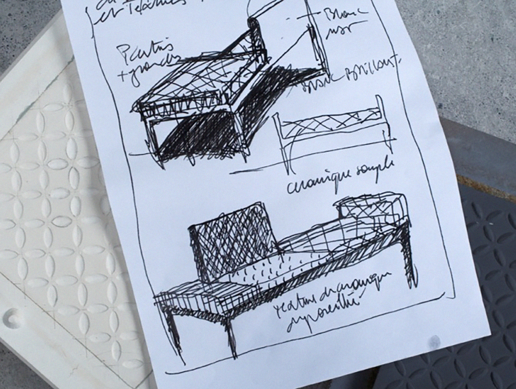 "Sketch of the ""Beirut"" chair"