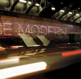 """The interior of the Great Bridgewater Tunnel has been lit up with the slogans """"Be Original"""" & """"Be Modern"""" - Picture by Christian Bragg"""
